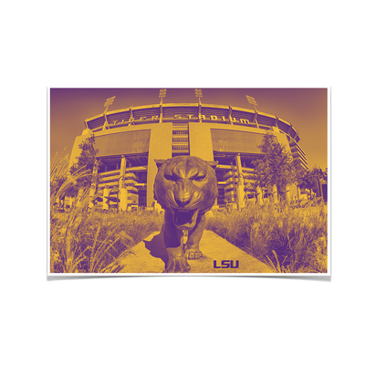LSU Tigers - Tiger Stadium Duotone - College Wall Art #Poster