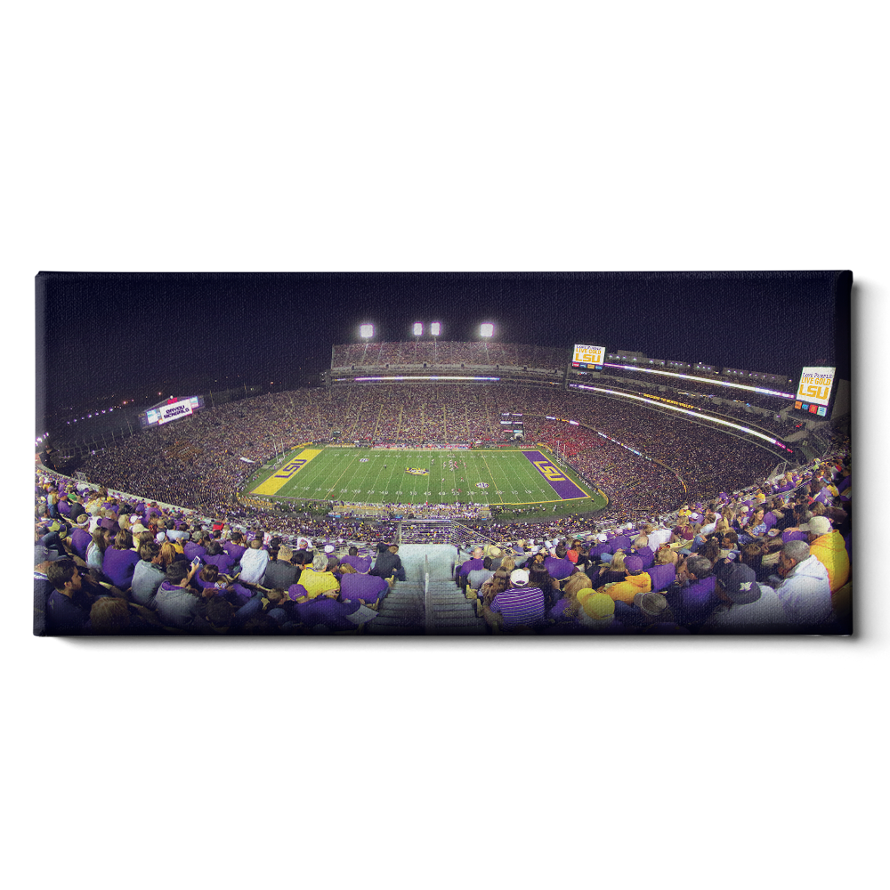 LSU Tigers - Love Purple Live Gold Stadium Pano