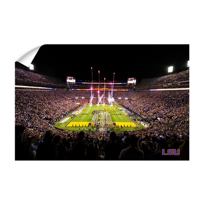 LSU Tigers - Saturday Night in Death Valley - College Wall Art #Wall Decal