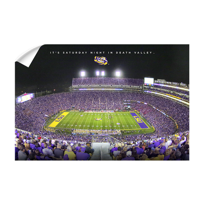 LSU TIGERS - It's Saturday Night in Death Valley - College Wall Art #Wall Decal