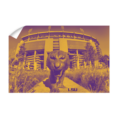 LSU Tigers - Tiger Stadium Duotone - College Wall Art #Wall Decal