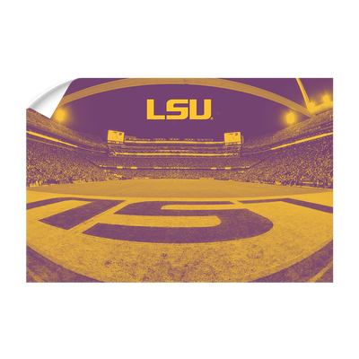 LSU Tigers - Tiger Stadium End Zone Duotone - College Wall Art #Wall Decal