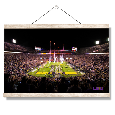 LSU Tigers - Saturday Night in Death Valley - College Wall Art #Hanging Canvas