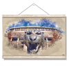LSU Tigers - LSU Tiger Watercolor - College Wall Art #Hanging Canvas