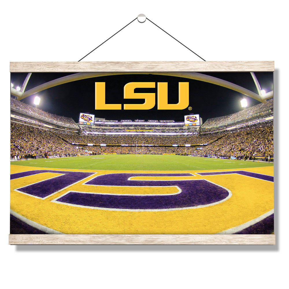 LSU Tigers - Death Valley - College Wall Art #Canvas