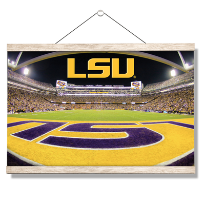 LSU Tigers - Death Valley - College Wall Art #Hanging Canvas