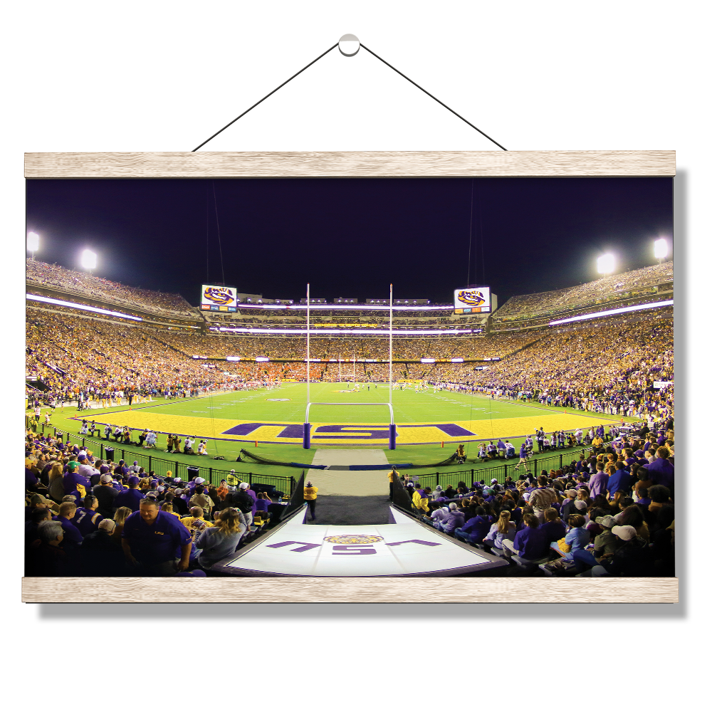 LSU TIGERS - LSU End Zone - College Wall Art #Canvas