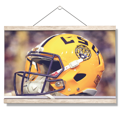 LSU Tigers - Tiger Helmet - College Wall Art #Hanging Canvas