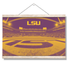 LSU Tigers - Tiger Stadium End Zone Duotone - College Wall Art #Hanging Canvas
