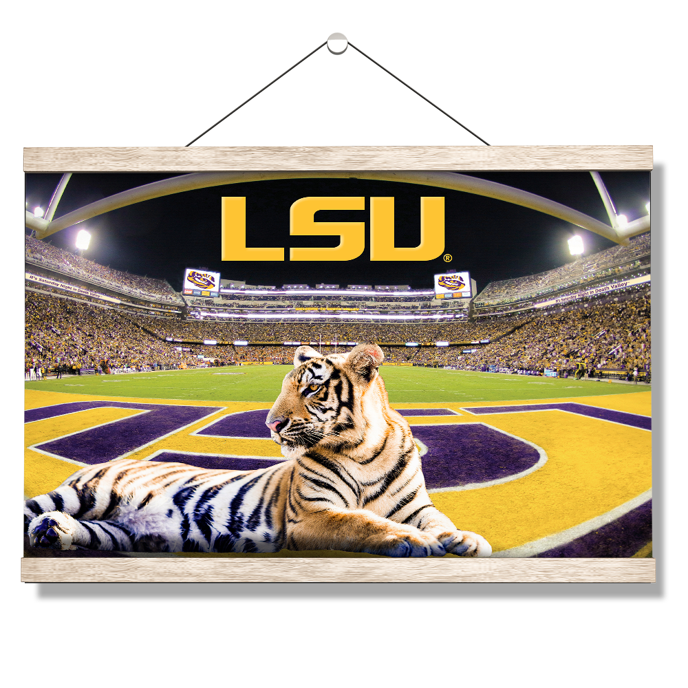 LSU Tigers - Mike VII's Kingdom - College Wall Art #Canvas