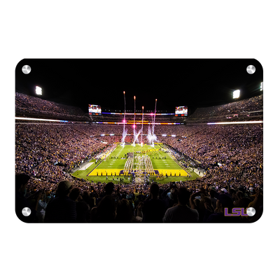 LSU Tigers - Saturday Night in Death Valley - College Wall Art #Metal