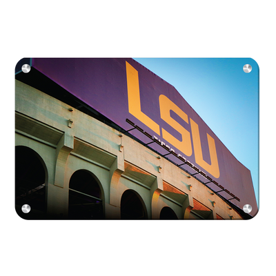 LSU Tigers - Tiger Stadium - College Wall Art #Metal