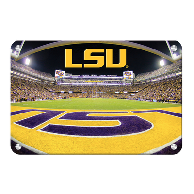 LSU Tigers - Death Valley - College Wall Art #Metal