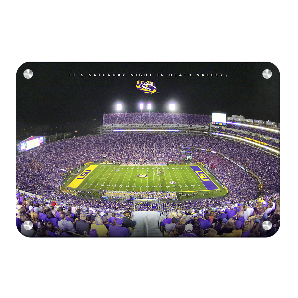 LSU TIGERS - It's Saturday Night in Death Valley - College Wall Art #Canvas