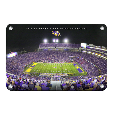 LSU TIGERS - It's Saturday Night in Death Valley - College Wall Art #Metal