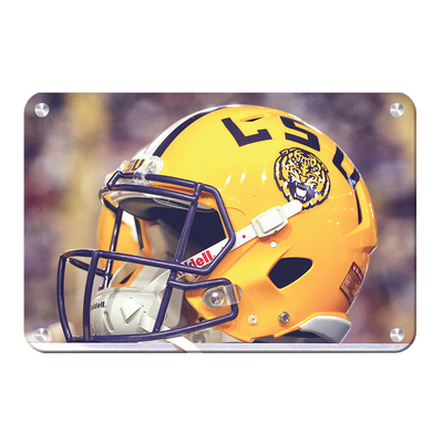 LSU Tigers - Tiger Helmet - College Wall Art #Metal