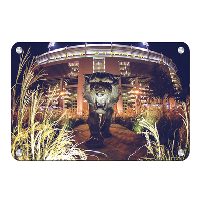 LSU Tigers - Tiger Night - College Wall Art #Metal