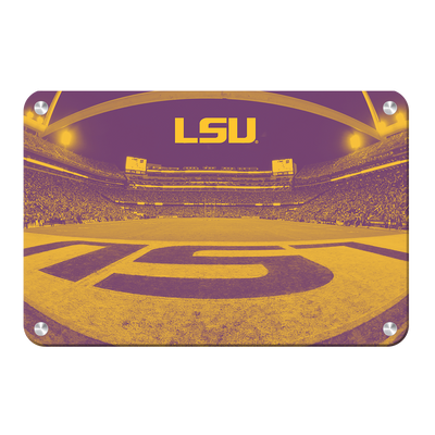 LSU Tigers - Tiger Stadium End Zone Duotone - College Wall Art #Metal