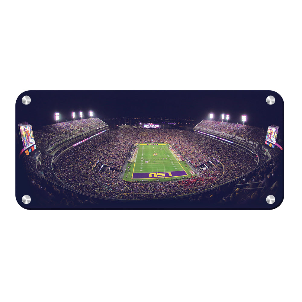 LSU Tigers - Tiger Stadium Pano - College Wall Art #Canvas