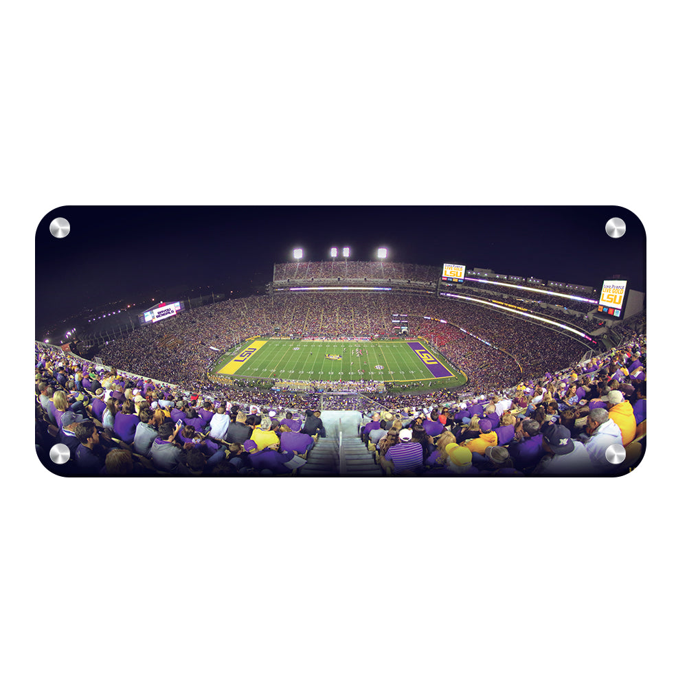 LSU Tigers - Love Purple Live Gold Stadium Pano - College Wall Art #Canvas