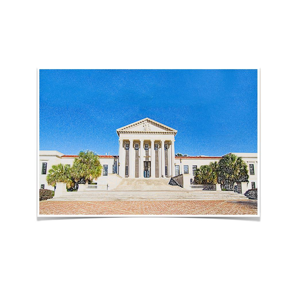 LSU Tigers - Paul M. Hebert Law Center Sketch - College Wall Art #Canvas