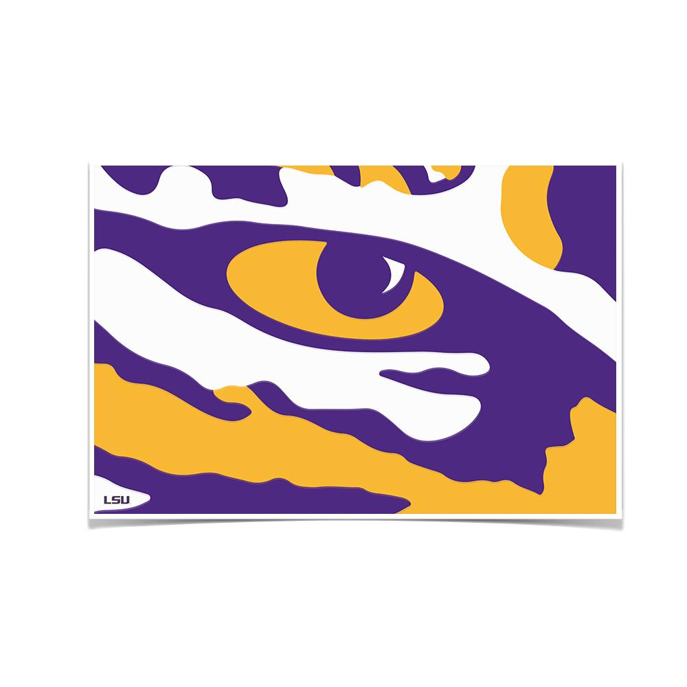 LSU Tigers - Eye of the Tiger - College Wall Art #Canvas