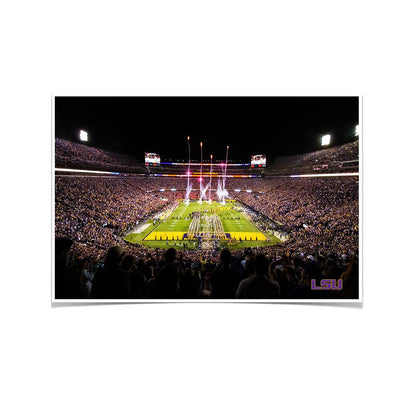 LSU Tigers - Saturday Night in Death Valley - College Wall Art #Poster