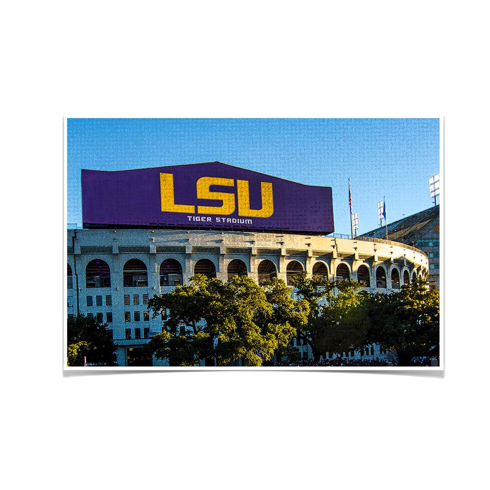 LSU Tigers - LSU Tiger Stadium - College Wall Art #Canvas
