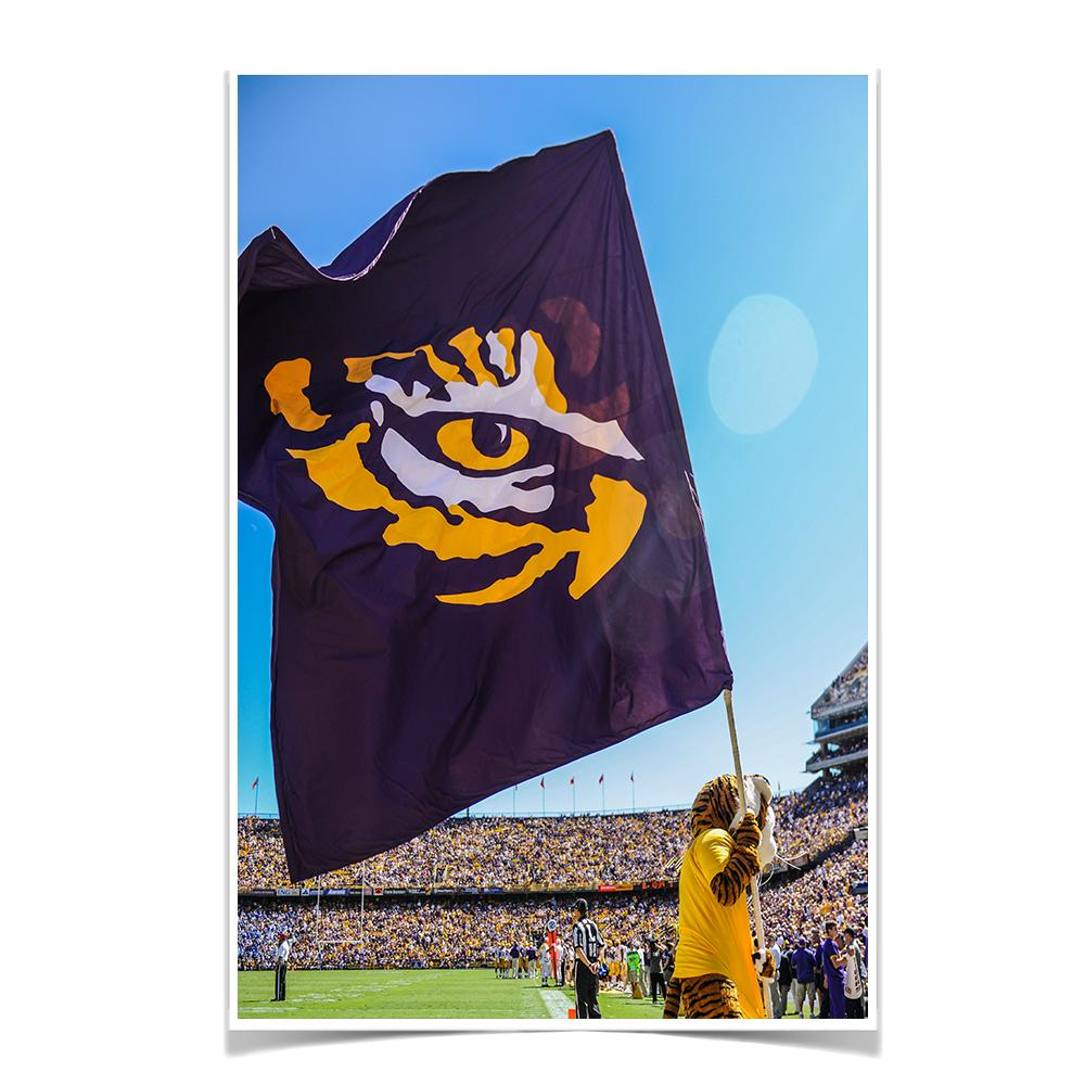 LSU Tigers - Tiger Flag - College Wall Art #Canvas