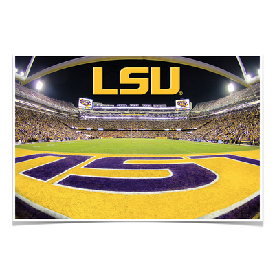 LSU Tigers - Death Valley - College Wall Art #Poster