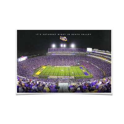 LSU TIGERS - It's Saturday Night in Death Valley - College Wall Art #Poster