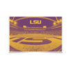 LSU Tigers - Tiger Stadium End Zone Duotone - College Wall Art #Poster