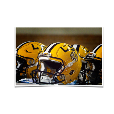 LSU Tigers - LSU Helmets - College Wall Art #Poster