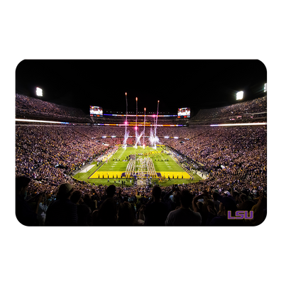 LSU Tigers - Saturday Night in Death Valley - College Wall Art #PVC
