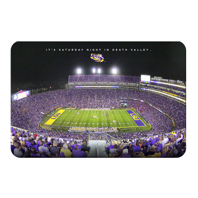 LSU TIGERS - It's Saturday Night in Death Valley - College Wall Art #PVC
