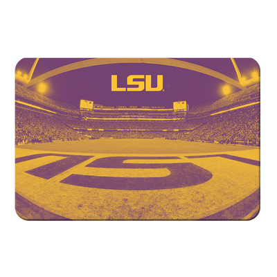 LSU Tigers - Tiger Stadium End Zone Duotone - College Wall Art #PVC