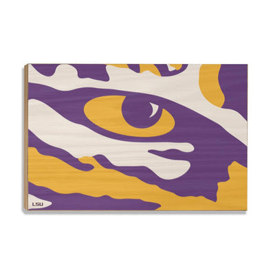 LSU Tigers - Eye of the Tiger - College Wall Art #Wood