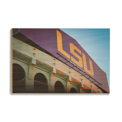 LSU Tigers - Tiger Stadium - College Wall Art #Wood