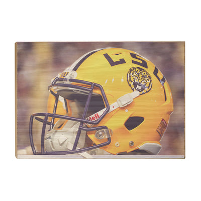 LSU Tigers - Tiger Helmet - College Wall Art #Wood