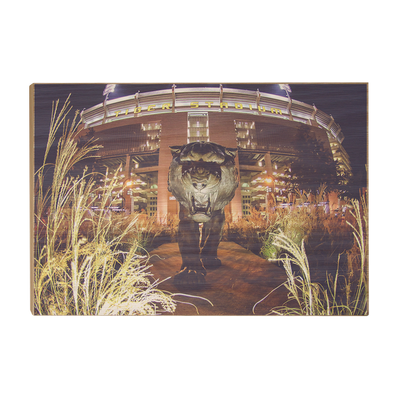 LSU Tigers - Tiger Night - College Wall Art #Wood