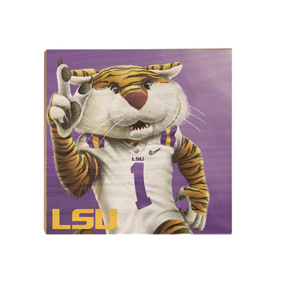 LSU Tigers - LSU Mike #Wood