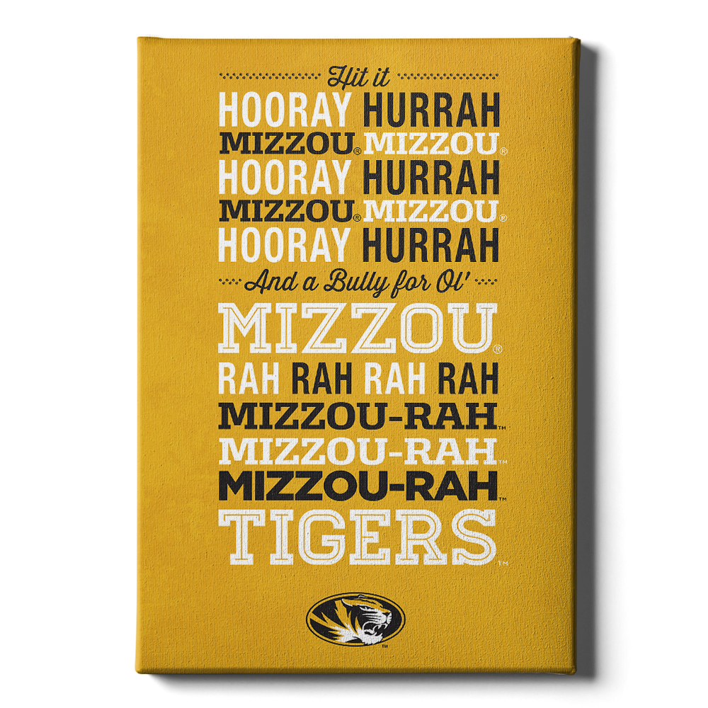 Missouri Tigers - Hooray Mizzou - College Wall Art #Canvas
