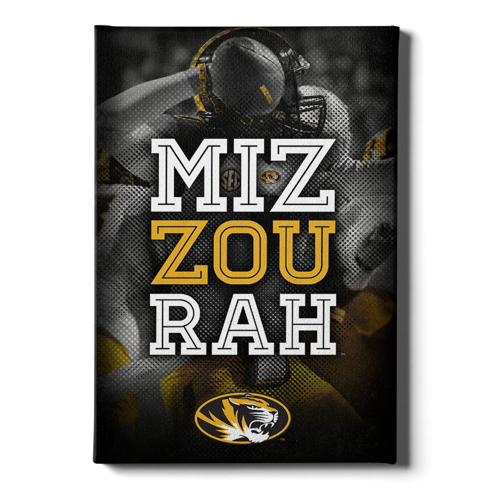 Missouri Tigers - Miz Zou Rah - College Wall Art #Canvas