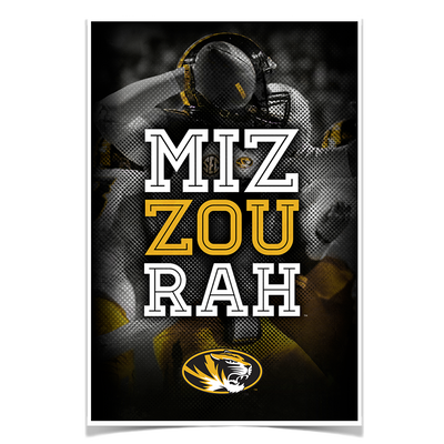 Missouri Tigers - Miz Zou Rah - College Wall Art #Poster