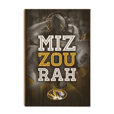 Missouri Tigers - Miz Zou Rah - College Wall Art #Wood