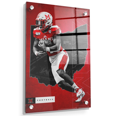 Miami RedHawks<sub>&reg;</sub> - MOH Football - College Wall Art#Acrylic