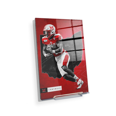 Miami RedHawks<sub>&reg;</sub> - MOH Football - College Wall Art#Acrylic Mini
