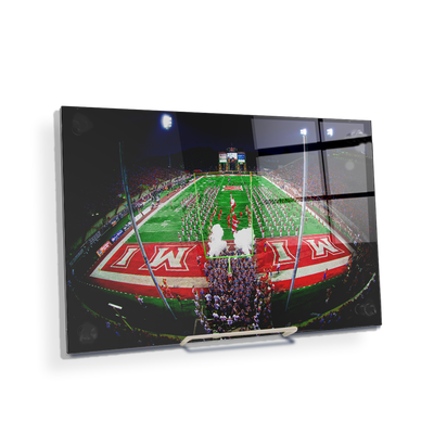 Miami RedHawks<sub>&reg;</sub> - Yager Stadium Grand Entrance - College Wall Art#Acrylic Mini