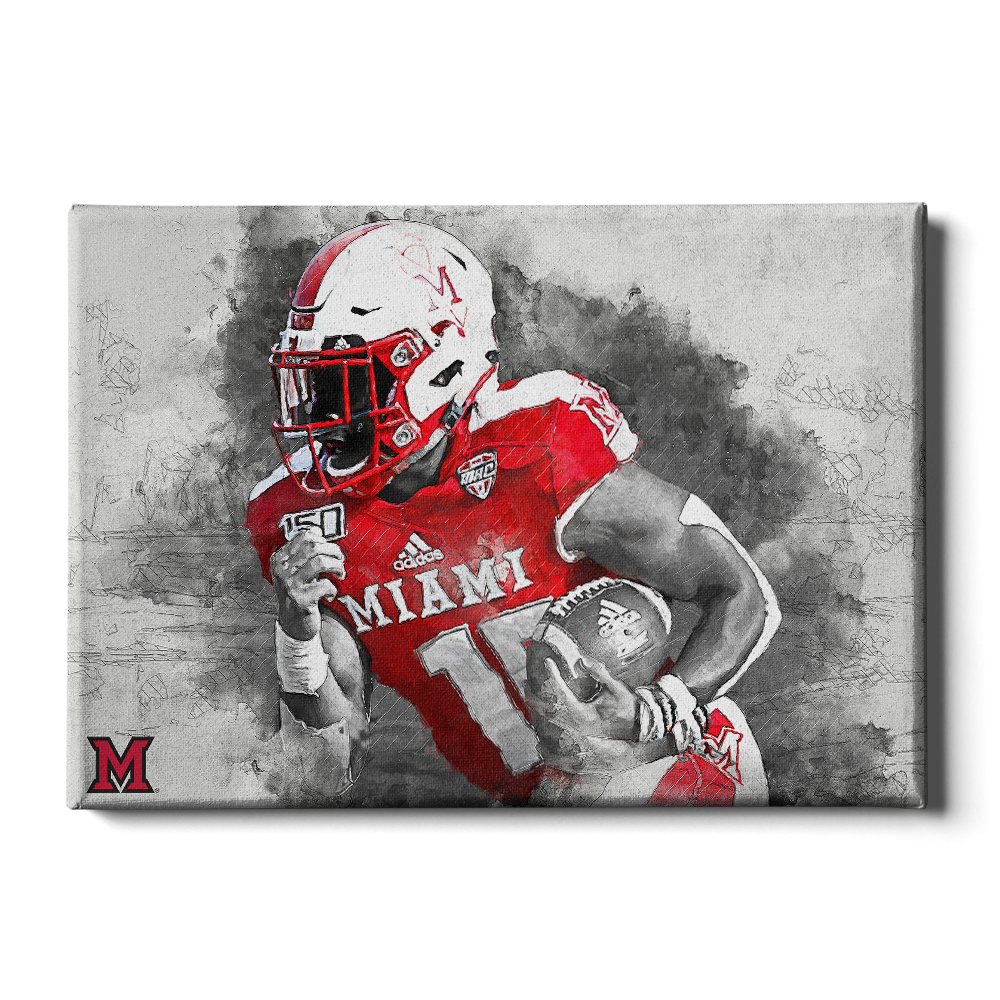 Miami RedHawks - Miami Football Paint #Canvas