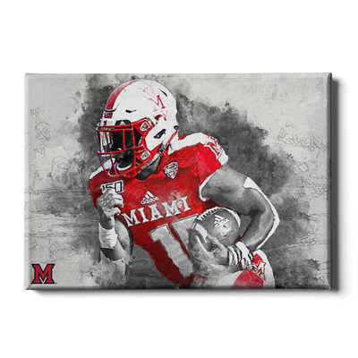 Miami RedHawks<sub>&reg;</sub> - Miami Football Paint - College Wall Art#Canvas